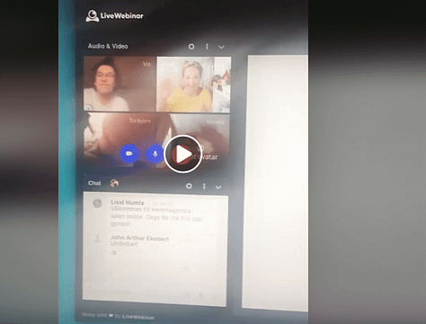 Möte online med LiveWebinar