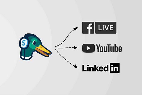 StreamYard för att livestreama på Facebook