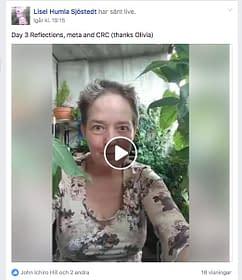 Lisel Humla Sjöstedt gör utmaningar i sociala media