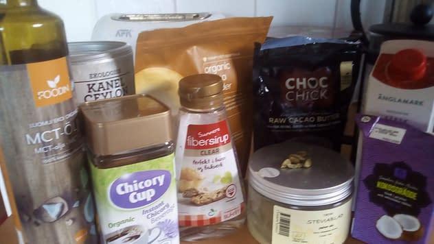 Proteinfaste-kaffe ingredienser