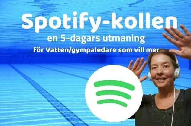 Spotify-kollen en f-dagars gratis utmaning på Facebook för instruktörer i vattengympa