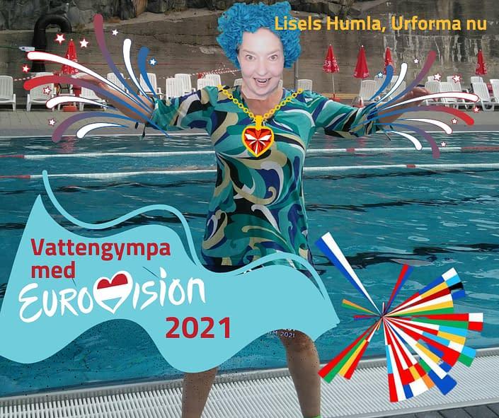 Eurovision 2021 som vattengympa med Lisel Humla. Blir det verklighet på ett utomhusbad i sommar...